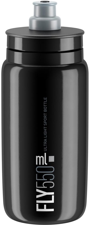 Фляга велосипедная Elite Fly, цвет: черный, 550 мл
