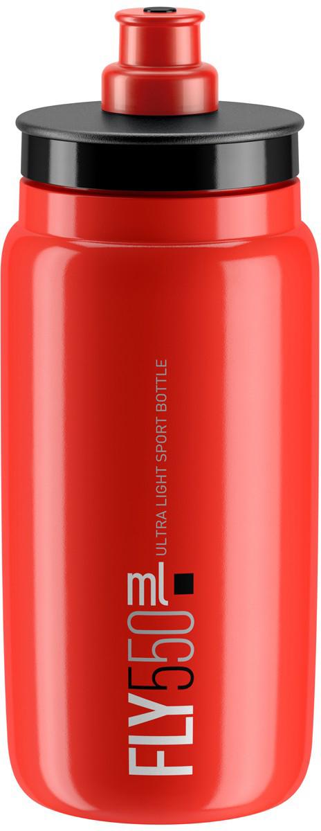 Фляга велосипедная Elite Fly, цвет: красный, 550 мл