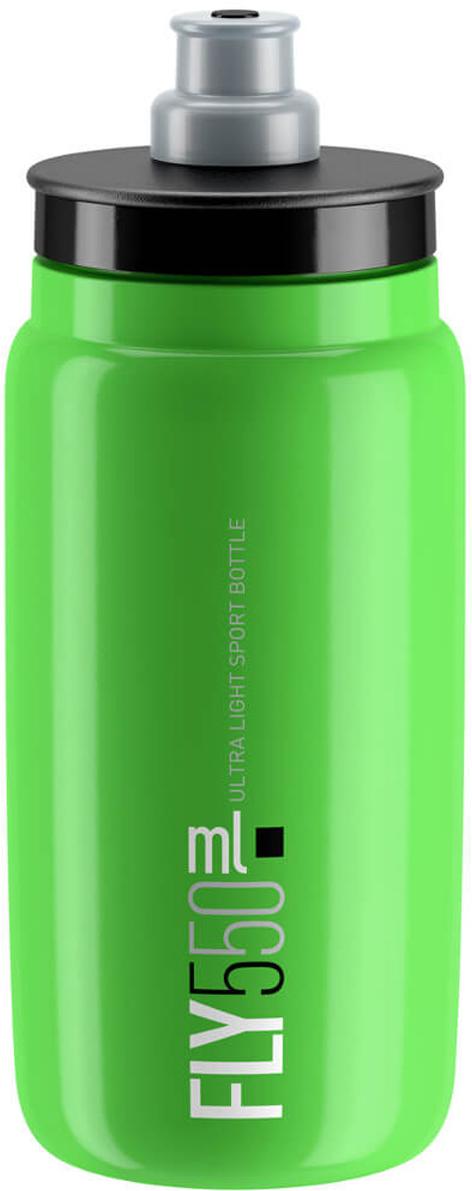 Фляга велосипедная Elite Fly, цвет: зеленый, 550 мл фляга elite nomo 750 мл пищевой пластик белый el0173002