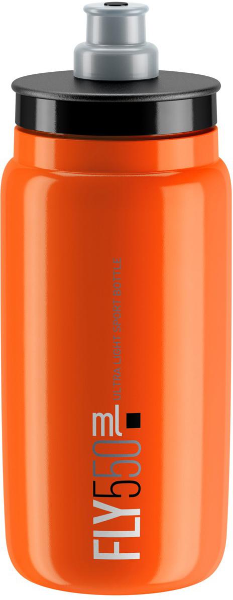 Фляга велосипедная Elite Fly, цвет: оранжевый, 550 мл фляга elite nomo 750 мл пищевой пластик белый el0173002
