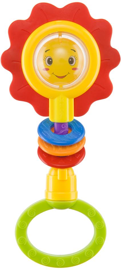 Happy Baby Погремушка Flower Twist330370Погремушка Happy Baby Flower Twist – это прекрасный подарок ребенку с самого раннего возраста. Погремушка в виде милого цветочка с улыбающейся мордашкой не оставит равнодушным вашего малыша. Цветочек представляет собой обрамленную яркими рифлеными лепестками прозрачную серединку-шарик с изображением дружелюбного личика внутри. Веселая мордашка привлечет внимание малыша и вызовет положительные эмоции. Так и хочется улыбнуться цветочку в ответ! Внутри шарика перекатываются бусинки, которые создают шумовой эффект и привлекают внимание к игрушке. Яркие лепесточки сделаны из мягкого безопасного материала, малыш будет их покусывать в период прорезывания зубов: прорезыватель массирует десны и снимает болевые ощущения. Круглая ручка-держатель погремушки удобна для захвата и удерживания рукой. При повороте ручка издает громкий звук-треск, развивая слуховое восприятие ребенка. Яркий цветочек располагается на гибком стержне, что позволяет сгибать погремушку в разные стороны. Очень интересно наблюдать за тем, как цветочек возвращается в исходное положение при каждом сгибании. На стержень нанизаны 3 разноцветных колечка, которые ребенок будет ощупывать, поднимать и опускать, развивая тактильные ощущения и мелкую моторику рук. Любимая погремушка способствует развитию двигательной активности ребенка. При виде игрушки малыш оживляется и тянет ручки, желая быстрее взять ее и поиграть! Особенности погремушки Happy Baby Flower Twist: - яркий внешний вид; - удобная форма и величина; - удобная ру...