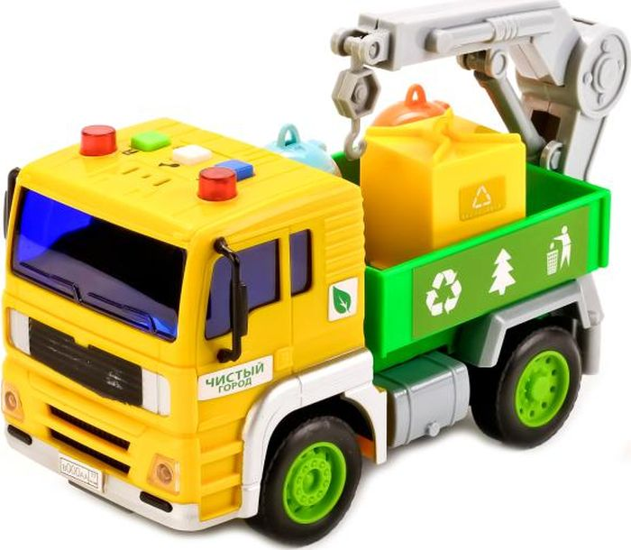 ТехноПарк Машинка инерционная Грузовик с манипулятором машинка технопарк грузовик 258633