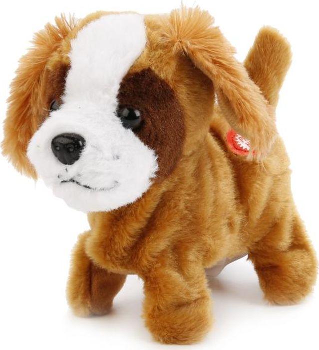 Играем вместе Интерактивный щенок My Friends HTJ587AHTJ587AОчаровательный щенок - интерактивная ходячая игрушка, с которой ребёнку никогда не станет скучно! Благодаря 5 функциям, собачка выглядит очень реалистично: она ходит, двигает головой, виляет хвостиком и реагирует на поглаживание. При нажатии на кнопку на теле пёсика проигрывается песенка Настоящий друг. Рыжая шёрстка щеночка очень мягкая и приятная на ощупь, ушки пушистые, мордочка белая. Эта милая собачка подарит ребёнку массу положительных эмоций и научит заботится о домашнем любимце!