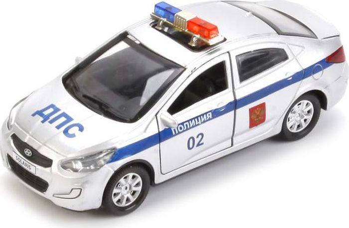 ТехноПарк Машинка инерционная Hyundai Solaris Полиция технопарк машинка инерционная hyundai solaris цвет голубой