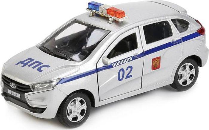 ТехноПарк Машинка инерционная Lada Xray технопарк автомобиль lada lada kalina полиция цвет белый