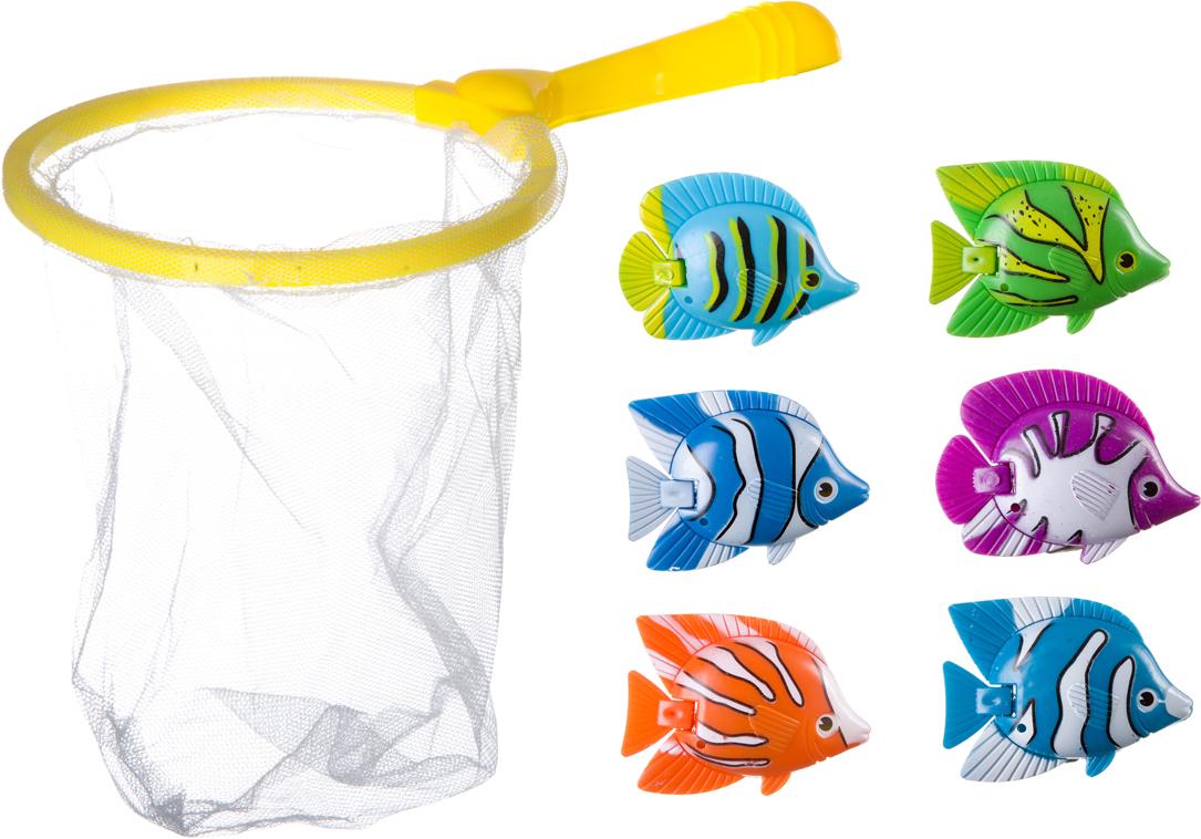 Bondibon Игрушка для ванной Играем в воде Рыбалка 6 шт bondibon игрушка для ванной играем в воде утенок цвет желтый