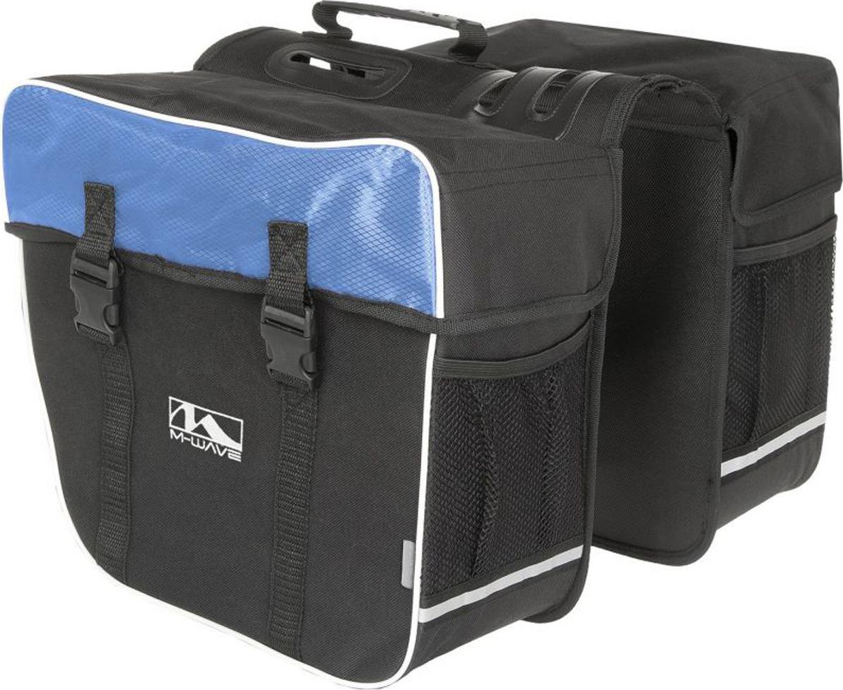 Велосумка-штаны на багажник M-Wave Amsterdam Double, 2x15 л, черно-синяя