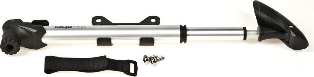 Насос для велосипеда Giyo GP93 телескопический, крепление на раму, 8 атм/120 psi, авто/вело ниппель, складная Т- образная ручка