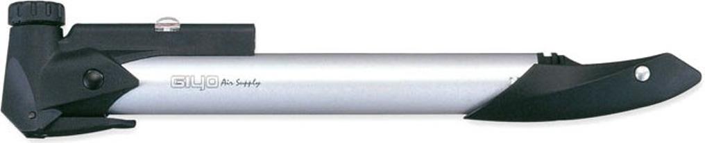 Насос для велосипеда Giyo GP91, телескопический алюминиевый, 8 атм/120psi, с манометром, вентиль вело/авто, складная Т- образная ручка