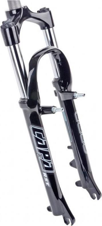 Вилка амортизационная RST Capa ML, для велосипедов 24, ход 50мм, цвет: черный, под дисковый тормоз и V-brake