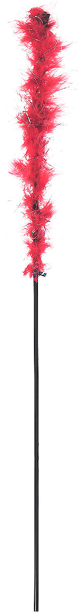 Игрушка-дразнилка для кошек GLG Боа с блестками, цвет: красный, длина 60 см украшение елочное шар красный с блестками 13 см красный полимерный материал