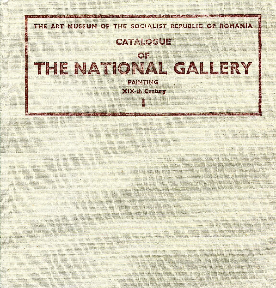 Catalogue of the National Gallery Painting XIX-th Century