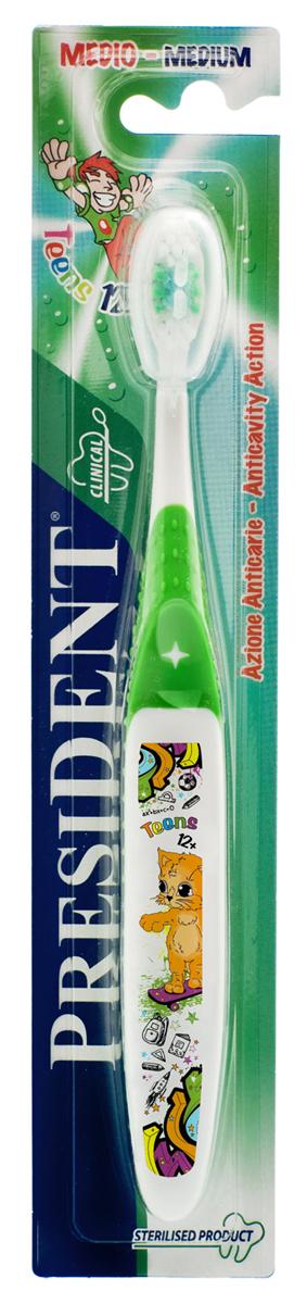 Зубная щетка President Teens, от 12 лет, мягкая, цвет в ассортименте