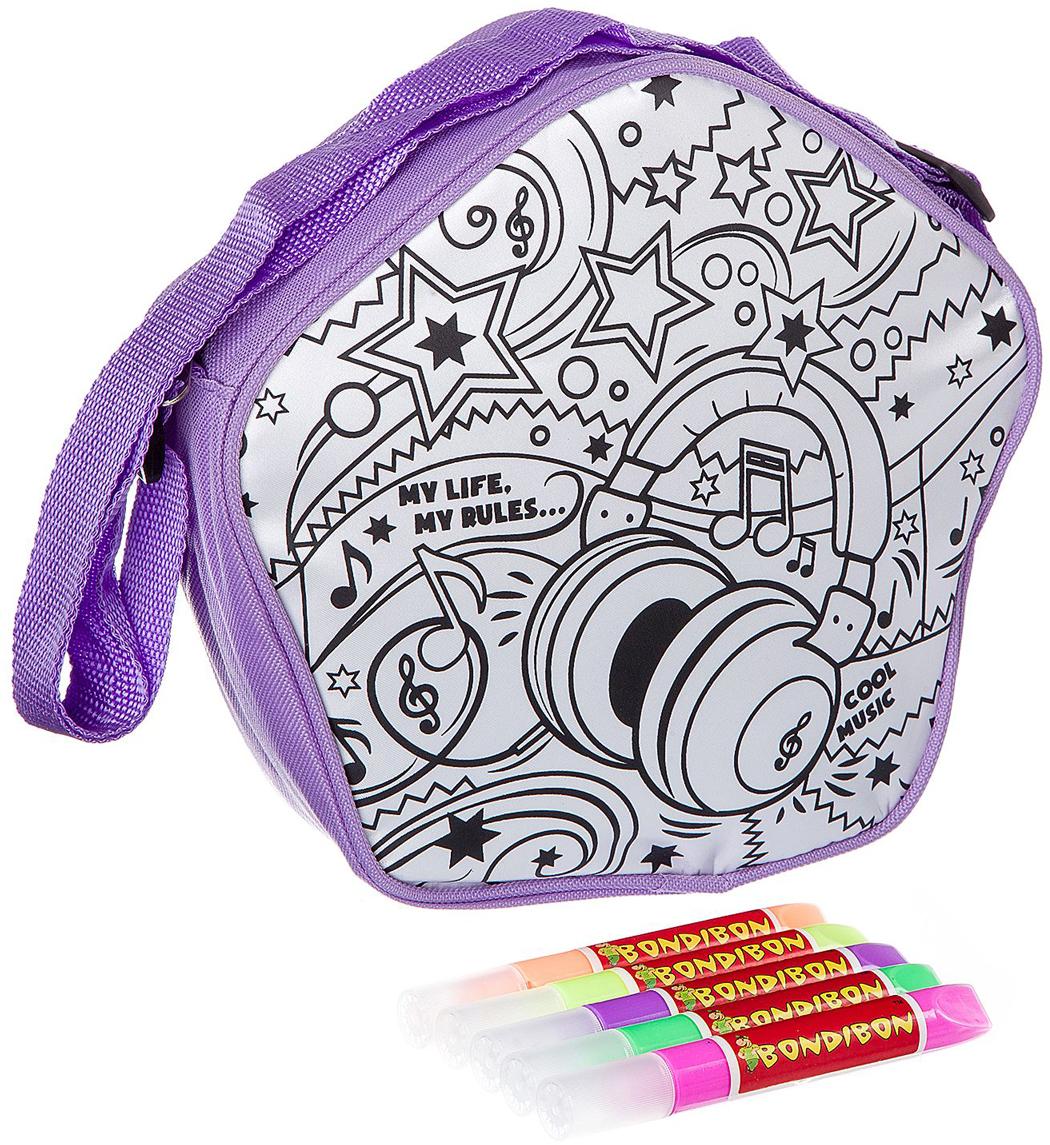 Bondibon Раскраска с 3D красками сумочка Диско