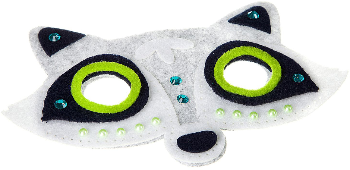 Bondibon Набор для вышивания маски из фетра Енот