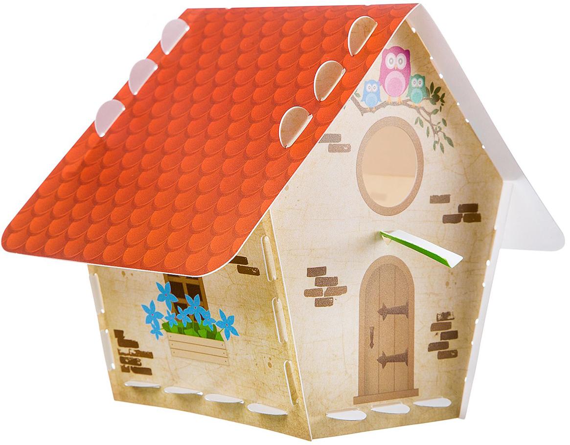 Bondibon Сборная деревянная модель Творчество с Буки Скворечник подтарельник с вашим именем уютный дом