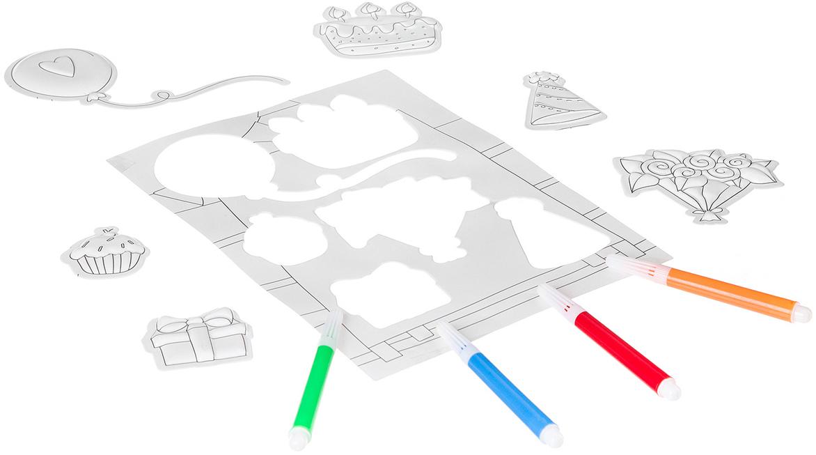 Bondibon Набор наклеек 3D День Рождения bondibon набор наклеек 3d машинки самолеты корабли
