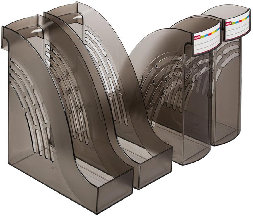 Attache Подставка для документов цвет дымчатый 4 шт