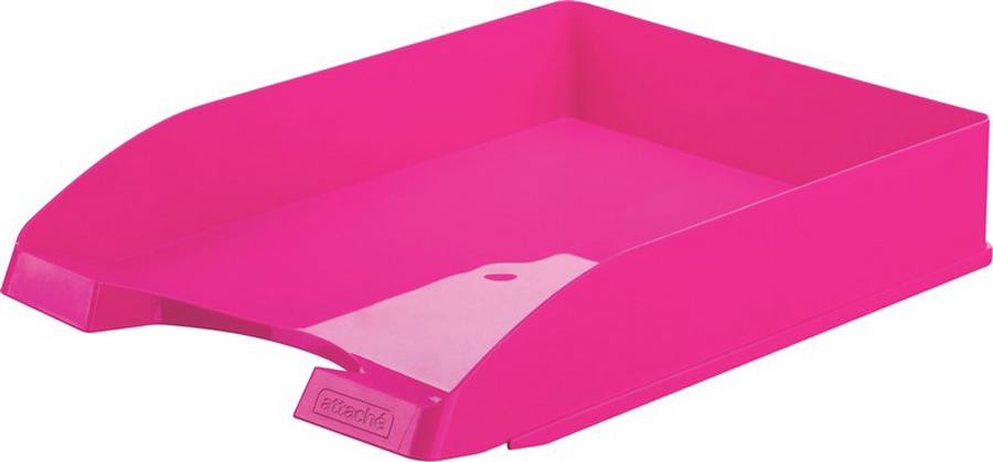 Attache Лоток для бумаг Fantasy цвет розовый ручка attache harmony 0 5 mm