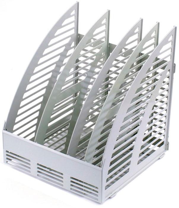 Attache Подставка для документов 4 отделения цвет серый attache подставка для документов яркий офис вишня