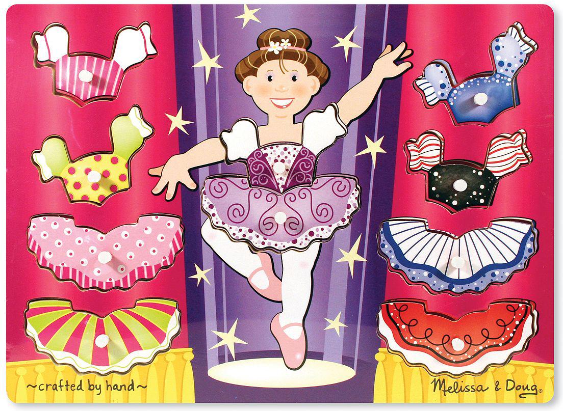 Melissa & Doug Пазл для малышей Мои первые пазлы Переодень балерину магнитные игры переодень элис melissa