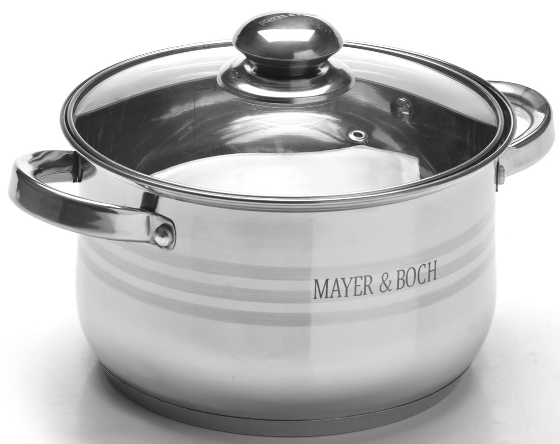 """Кастрюля """"Mayer & Boch"""" с крышкой, 3,9 л. 27295"""