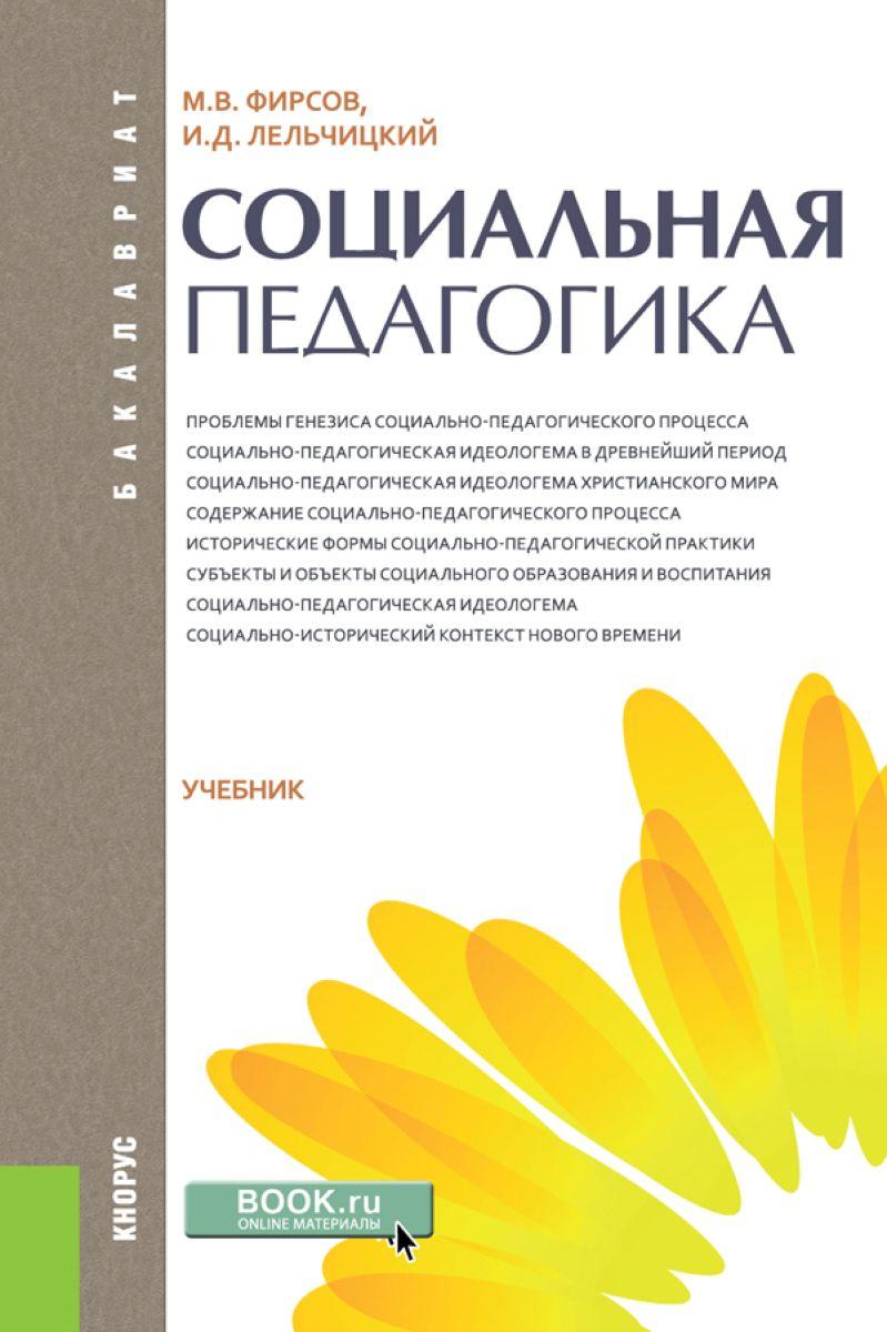 М. В. Фирсов,И. Д. Лельчицкий Социальная педагогика. Учебник организация работы с молодежью введение в специальность