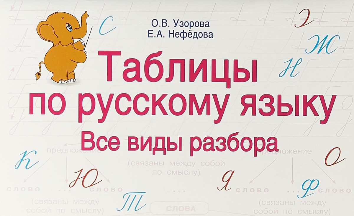 О. В. Узорова, Е. А. Нефедова Таблицы по русскому языку. Все виды разбора