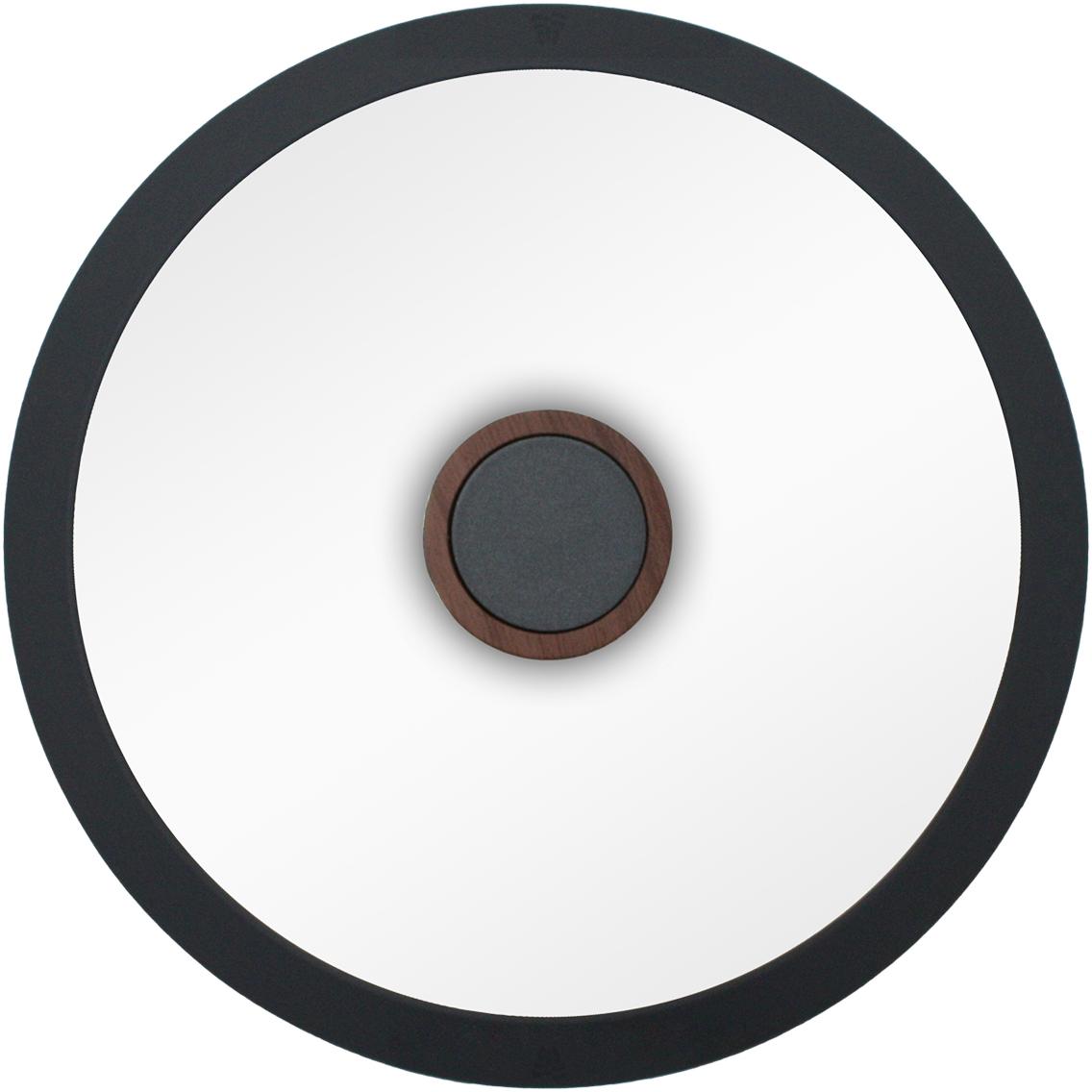 Крышка Tavolone 401023, Термоупрочненное стекло, Силикон401023Силиконовый обод обеспечивает плотное прилегание крышки и предохраняет бортики посуды от повреждений. Удобная ненагревающаяся ручка с покрытием Soft-touch, предотвращающим выскальзывание. Прочное закаленное стекло.