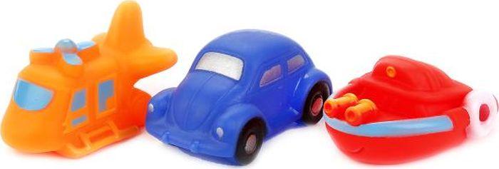 Играем вместе Набор игрушек для ванной Вертолет Машина Катер В1518251 играем вместе набор игрушек для ванной белоснежка и гномы 3 шт