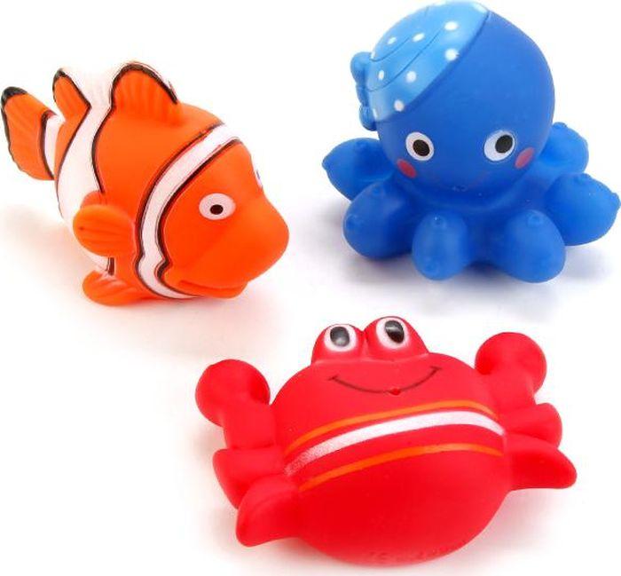 Играем вместе Набор игрушек для ванной Водные обитатели 3 шт В1582221 набор кубиков играем вместе чаггингтон от 3 лет 9 шт
