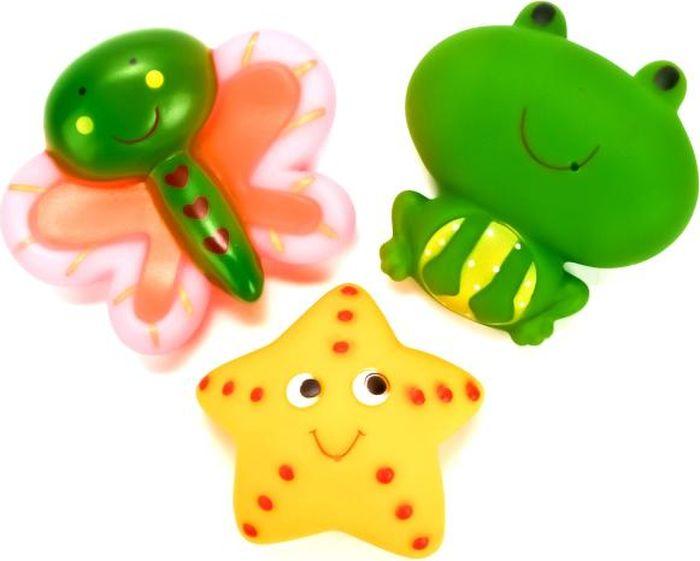 Играем вместе Набор игрушек для ванной Бабочка Звезда Лягушка В1581625 играем вместе набор игрушек для ванной белоснежка и гномы 3 шт