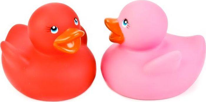 Играем вместе Набор игрушек для купания Термо-уточки цвет розовый красный 2 шт LXT09-12-PNRD набор игрушек для купания морской мир 12 мес пвх 4 шт