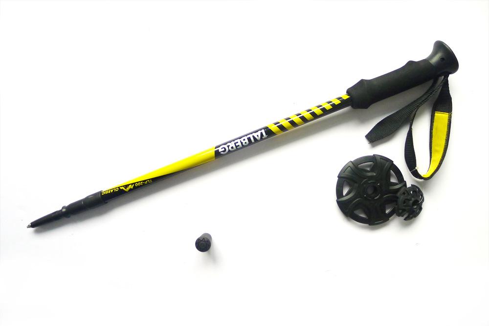 цена на Палки для трекинга Talberg Classic Pole, цвет: черный, 62-135 см, 2 шт