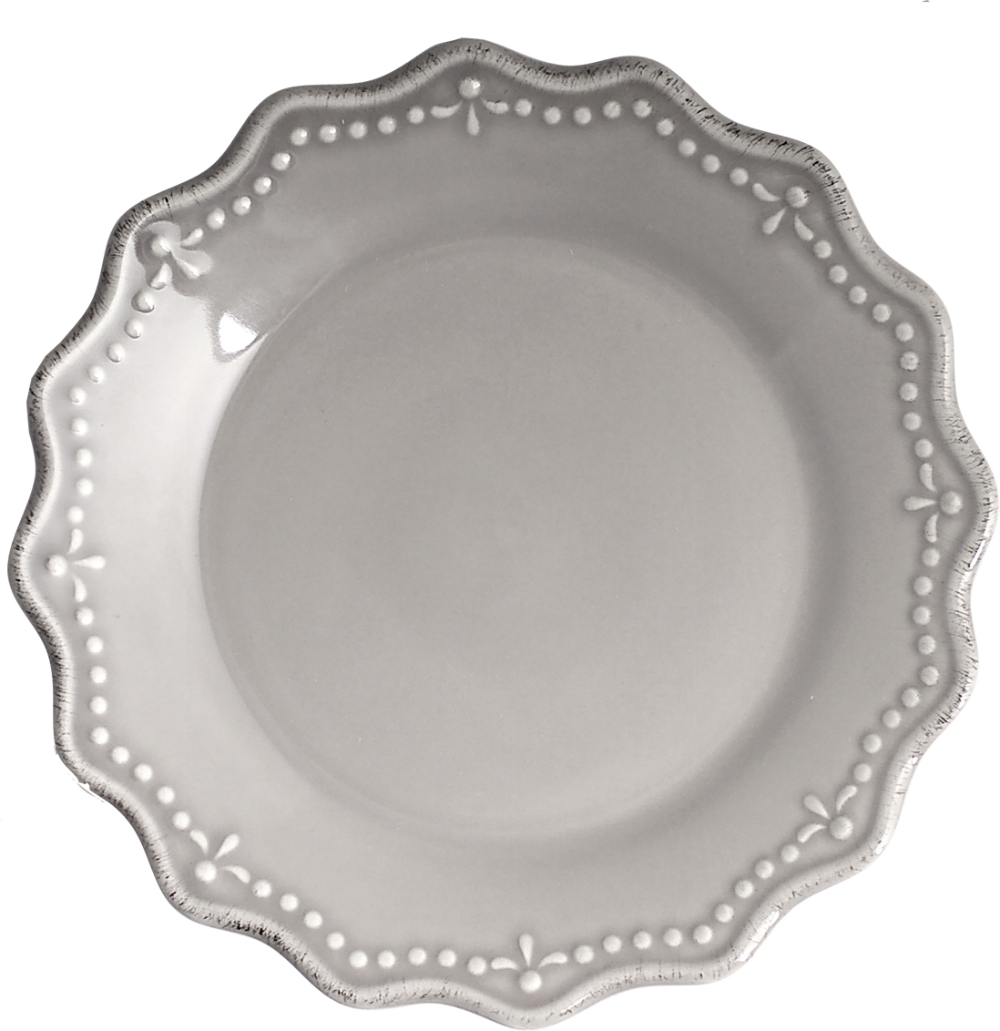 """Тарелка десертная """"H&H"""", цвет: серый, диаметр 21 см"""