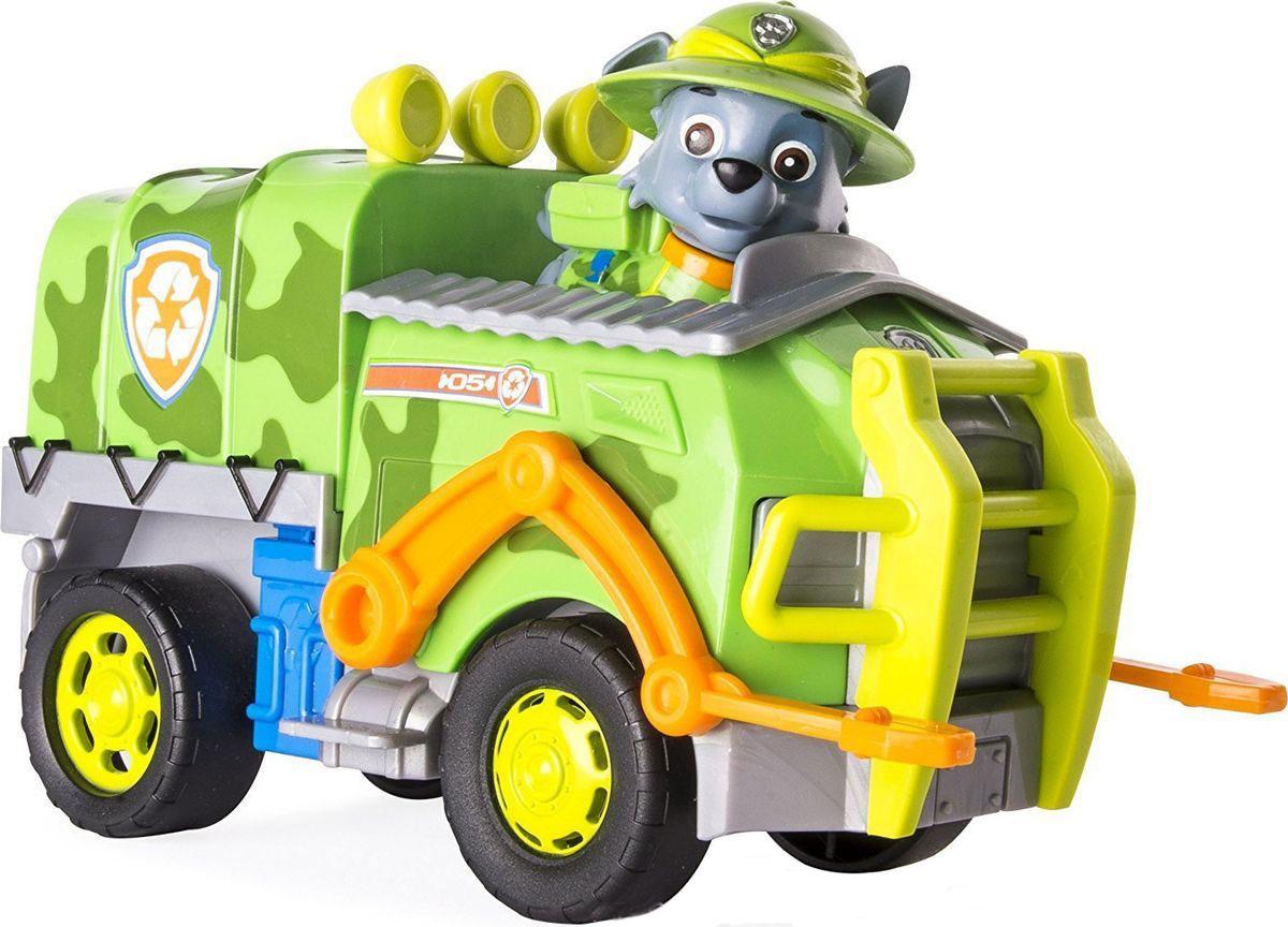 Paw Patrol Игровой набор Машина спасателя со щенком Рокки игровой набор paw patrol машина спасателя со щенком