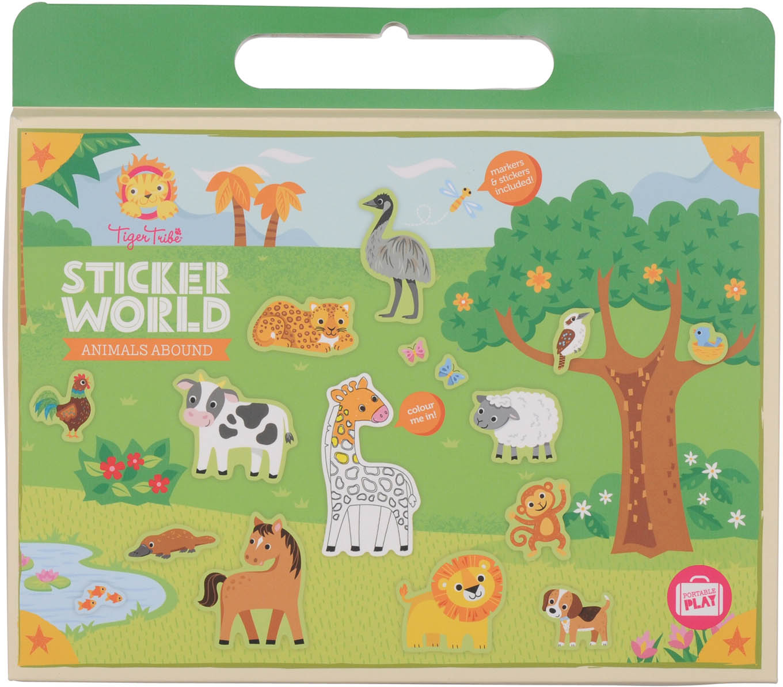 Tiger Tribe Набор для творчества с наклейками Царство животных