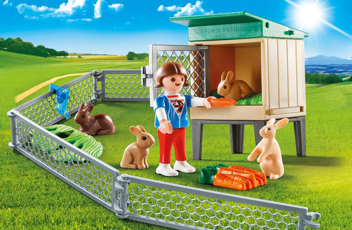 Playmobil Игровой набор Возьми с собой Домик кролика playmobil игровой набор возьми с собой рыцарь с катапультой