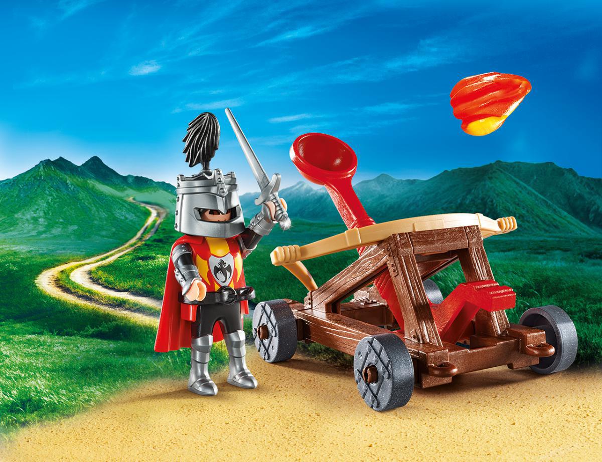 Playmobil Игровой набор Возьми с собой Рыцарь с катапультой playmobil игровой набор возьми с собой рыцарь с катапультой