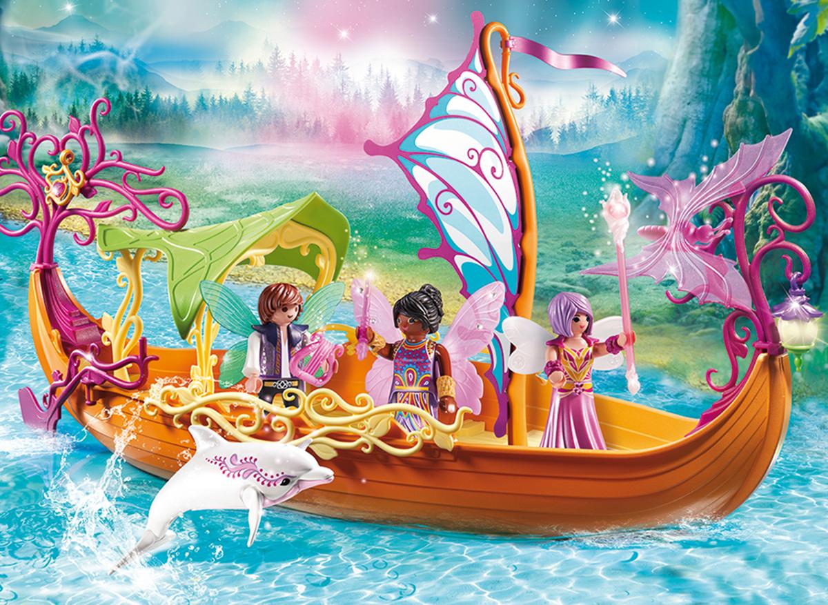 Playmobil Игровой набор Феи Зачарованный сказочный корабль
