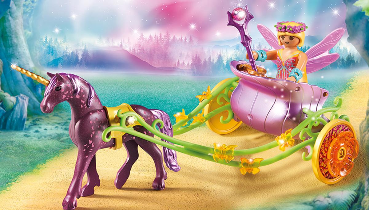 Playmobil Игровой набор Феи Расписанный Единорогами сказочный экипаж playmobil игровой набор феи девочка фея с енотами