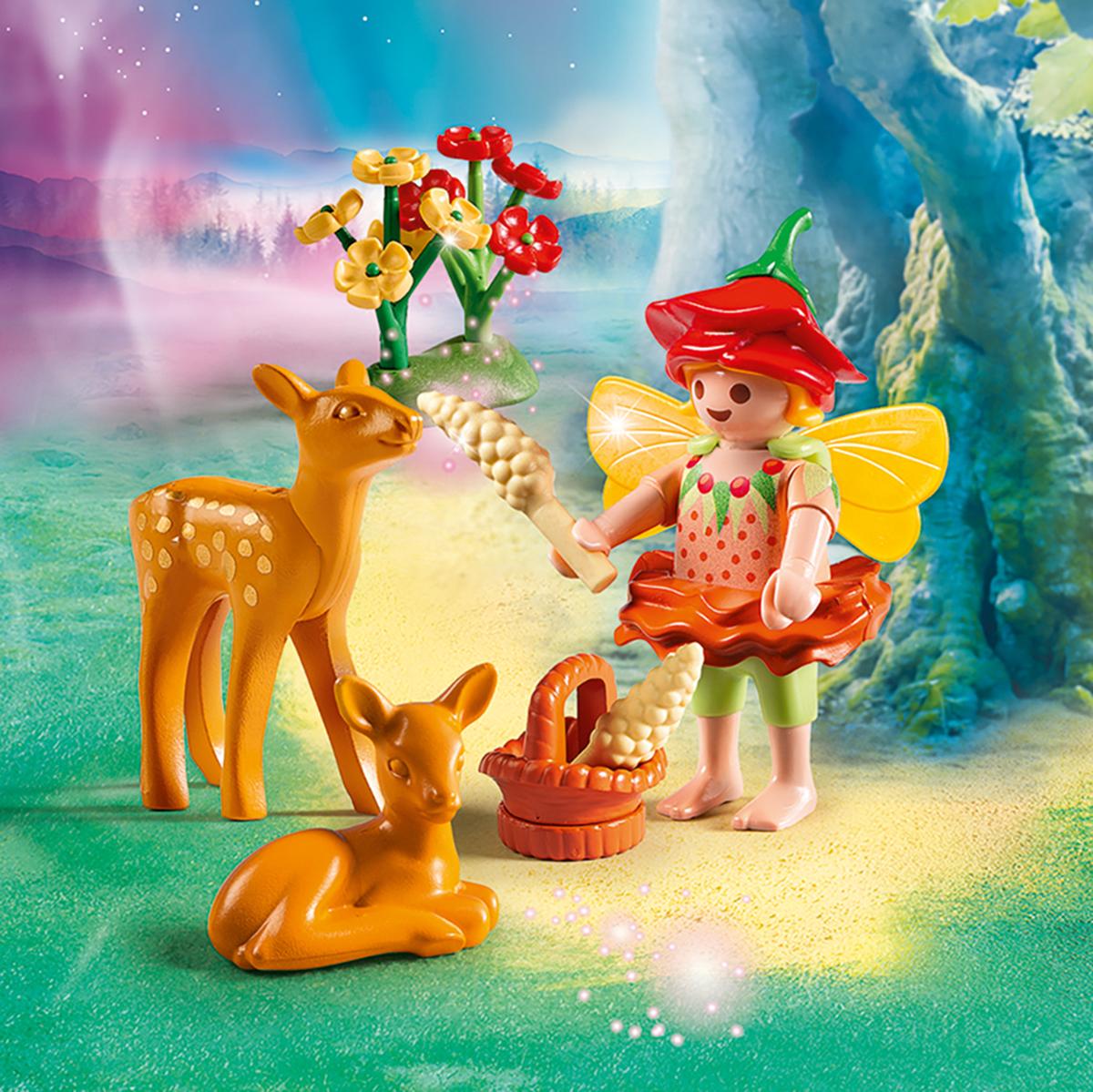 Playmobil Игровой набор Феи Девочка-фея с оленятами