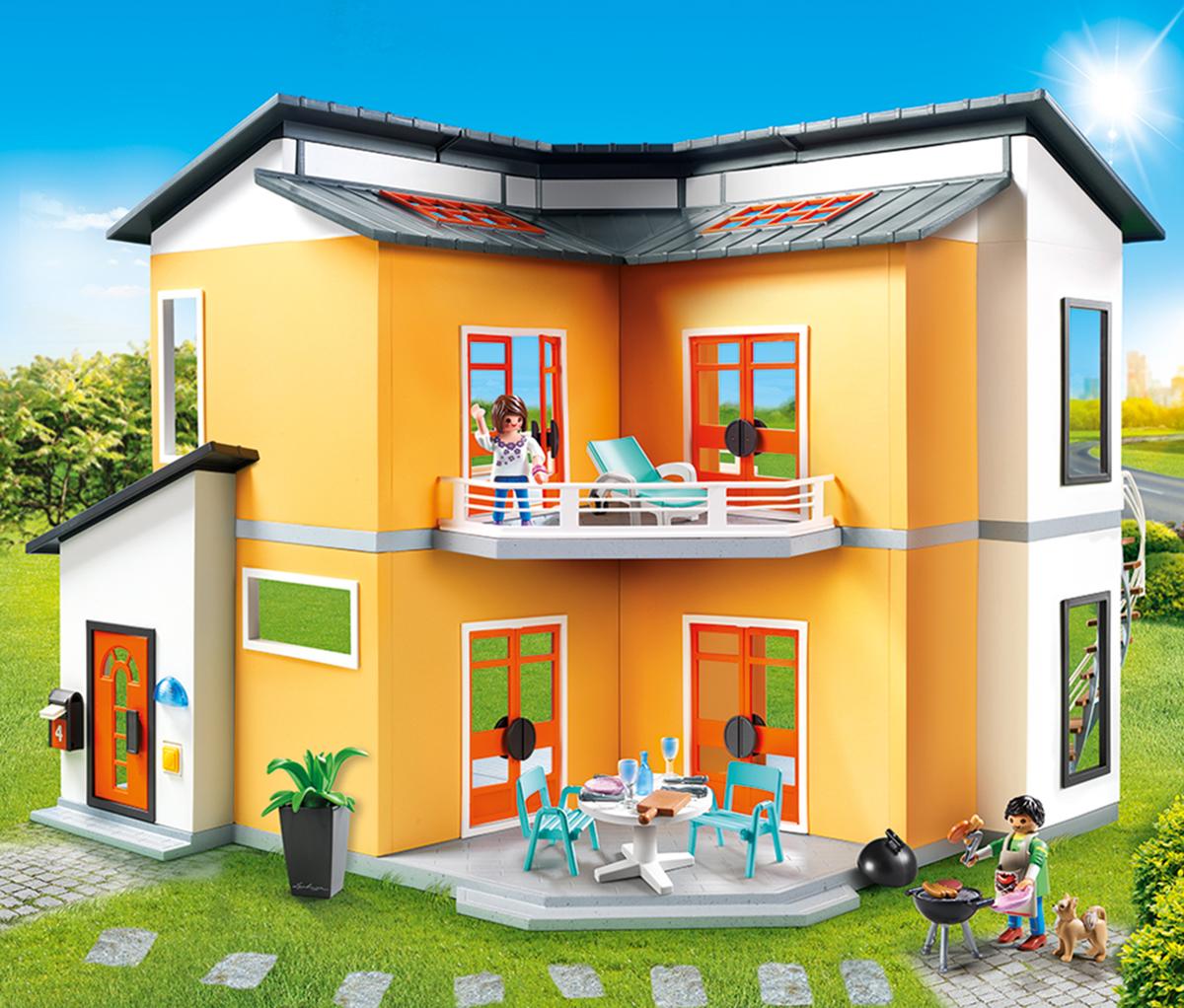 Фото - Playmobil Игровой набор Кукольный дом Современный дом playmobil кукольный дом детская комната с люлькой 5304