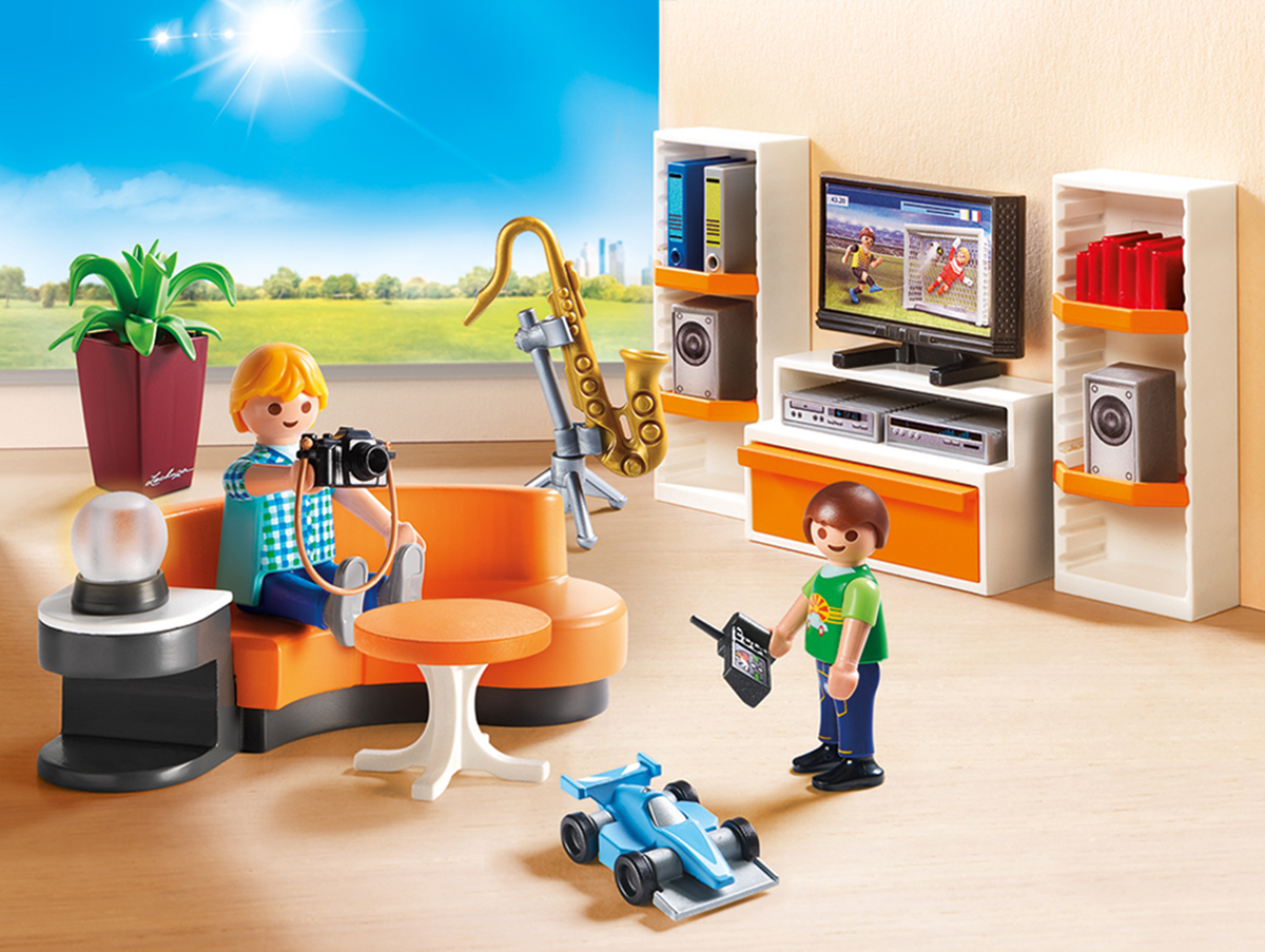 Фото - Playmobil Игровой набор Кукольный дом Жилая комната playmobil кукольный дом детская комната с люлькой 5304