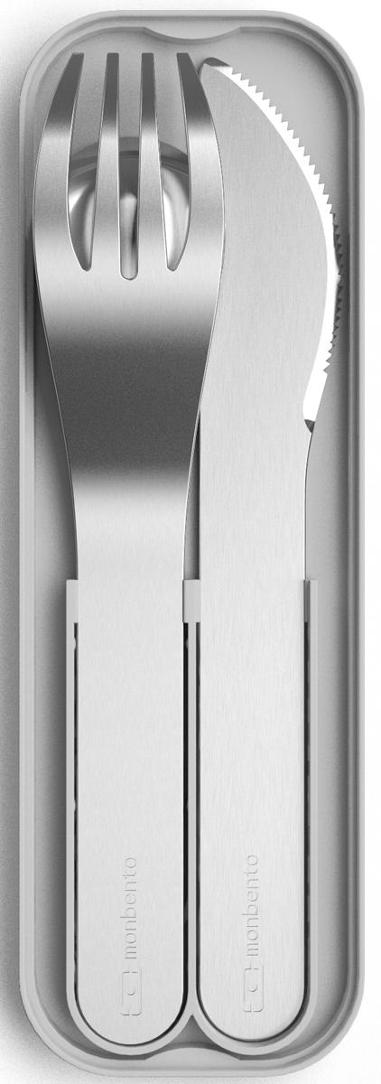 """Набор столовых приборов Monbento """"MB Pocket"""", цвет: светло-серый, 3 предмета"""