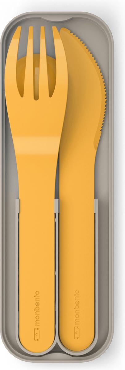 """Набор столовых приборов Monbento """"MB Pocket"""", цвет: горчичный, 3 предмета"""