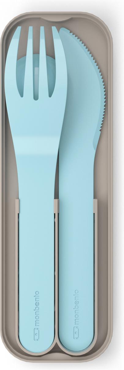 """Набор столовых приборов Monbento """"MB Pocket"""", цвет: голубой, 3 предмета"""