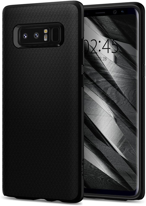 Чехол Spigen Liquid Air для Samsung Galaxy Note 8, Black spigen neo hybrid 562cs20568 чехол для samsung galaxy note 7 gunmetal