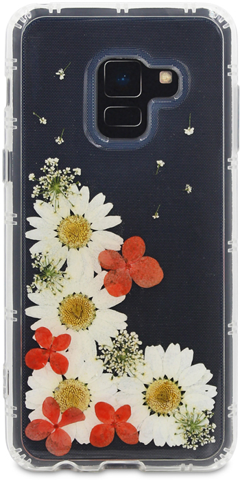 DYP Flower Case чехол для Samsung Galaxy A8+ (2018), Transparent flower print card case