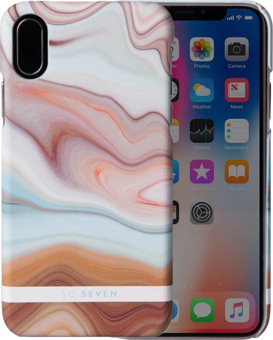 Фото - Чехол So Seven Carrare для Apple iPhone X, Beige so seven dandy чехол для apple iphone x dark gray wood